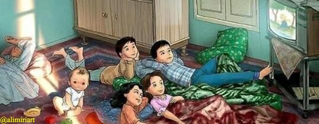 minggu pagi menonton cerita serial tv anak doraemon atau upin ipin