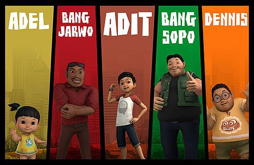 kisah keseharian masyarakat Indonesia terkini versi kartun digambarkan apik pada serial TV anak Sopo Jarwo