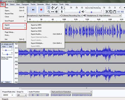 memoles audio pakai audacity termasuk dalam cara mudah membuat podcast gratis