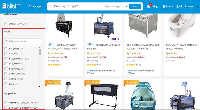 pilihan brand box bayi dan pengiriman di blibli.com