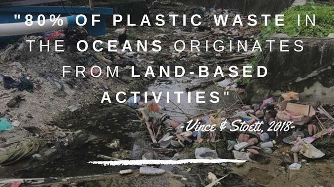 sampah plastik di laut berasal dari daratan