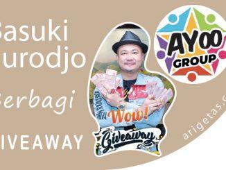 Basuki Surodjo Raja IT bagi-bagi giveaway via Ayooentertainment