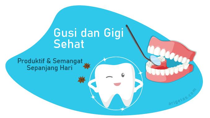 menggosok gigi secara teratur merupakan salah satu cara mengobati gusi bengkak agar tidak tersiksa sepanjang hari