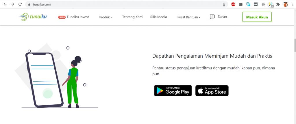 aplikasi pinjaman online tunaiku yang tersedia untuk hape android dan iOS