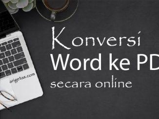konversi word ke pdf secara online