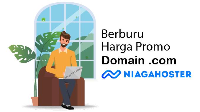 dapatkan harga promo domain .com yang fleksibel untuk ngeblog lebih profesional dengan harga hemat di Niagahoster