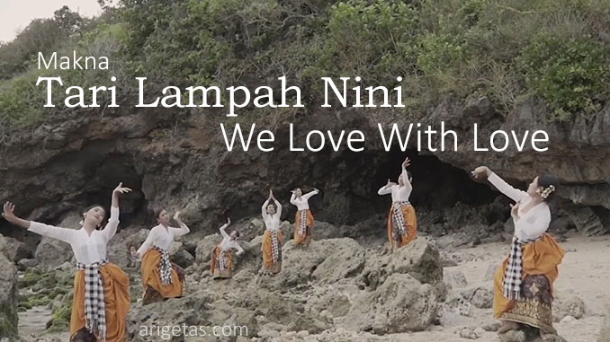 makna tari lampah nini saat launching yayasan we love with love