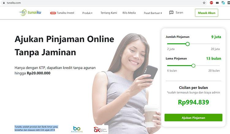Tunaiku merupakan cara mendapatkan modal bisnis via online yang mudah dan cepat