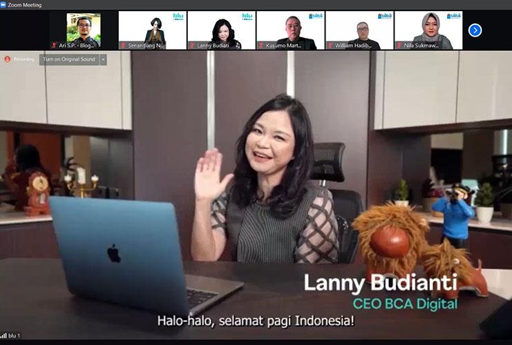 it's a blu day Lanny Budiati CEO BCA Digital 22 Juli 2021