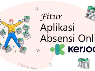 fitur aplikasi absensi online Kerjoo yang aman dan tersedia untuk android dan iOS serta ringan aman plus personal
