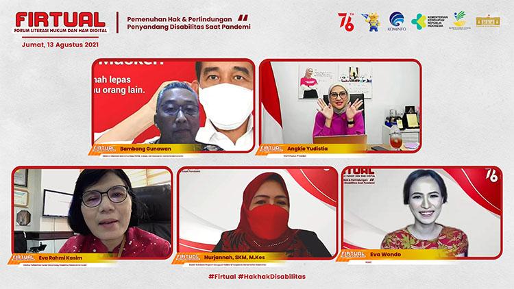 webinar Firtual sebagai bentuk kepedulian pemerintah Indonesia bagi Penyandang Disabilitas Saat Pandemi